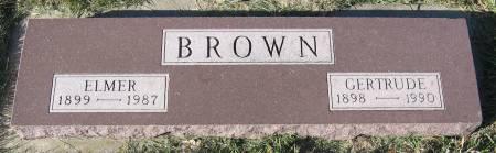 MOREHEAD BROWN, GERTRUDE LILLIAN - Plymouth County, Iowa   GERTRUDE LILLIAN MOREHEAD BROWN