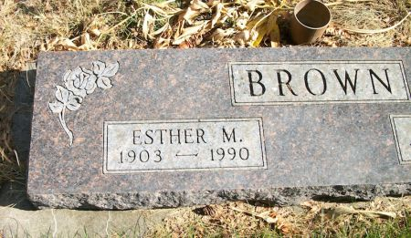 BROWN, ESTHER M. - Plymouth County, Iowa   ESTHER M. BROWN