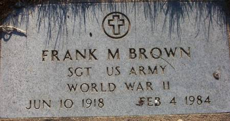 BROWN, FRANK M. - Plymouth County, Iowa | FRANK M. BROWN