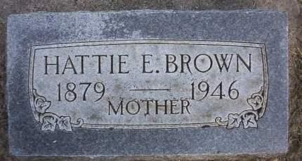 BROWN, HATTIE E. - Plymouth County, Iowa | HATTIE E. BROWN