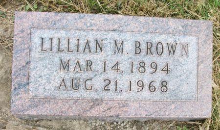 BROWN, LILLIAN M. - Plymouth County, Iowa | LILLIAN M. BROWN