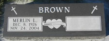 BROWN, MERLIN LYLE - Plymouth County, Iowa   MERLIN LYLE BROWN