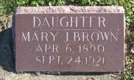 BROWN, MARY JULIA - Plymouth County, Iowa | MARY JULIA BROWN