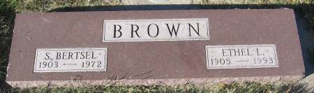 ROWE BROWN, ETHEL L. - Plymouth County, Iowa   ETHEL L. ROWE BROWN
