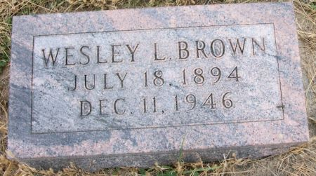 BROWN, WESLEY L. - Plymouth County, Iowa   WESLEY L. BROWN