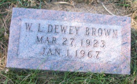 BROWN, W. L. DEWEY - Plymouth County, Iowa | W. L. DEWEY BROWN