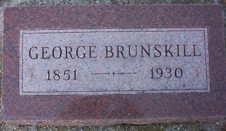 BRUNSKILL, GEORGE - Plymouth County, Iowa | GEORGE BRUNSKILL
