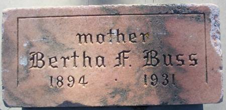 BUSS, BERTHA F. - Plymouth County, Iowa | BERTHA F. BUSS