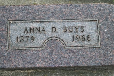 BUYS, ANNA D. - Plymouth County, Iowa   ANNA D. BUYS