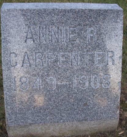 CARPENTER, ANNIE R. (MRS. M.A.) - Plymouth County, Iowa | ANNIE R. (MRS. M.A.) CARPENTER