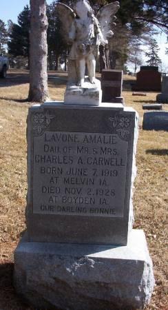 CARWELL, LAVONE AMALIE - Plymouth County, Iowa | LAVONE AMALIE CARWELL