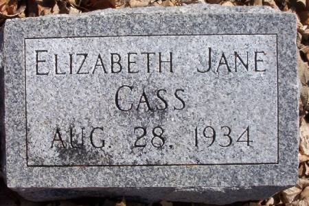 CASS, ELIZABETH JANE - Plymouth County, Iowa | ELIZABETH JANE CASS