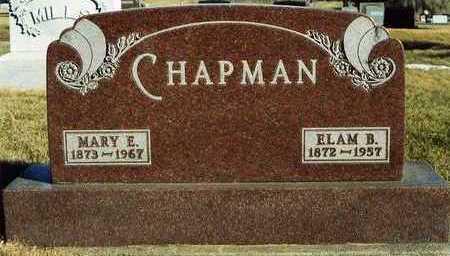 CHAPMAN, ELAM BURT - Plymouth County, Iowa | ELAM BURT CHAPMAN