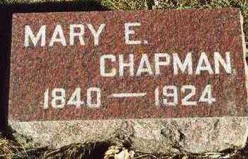 CHAPMAN, MARY ELIZABETH - Plymouth County, Iowa | MARY ELIZABETH CHAPMAN