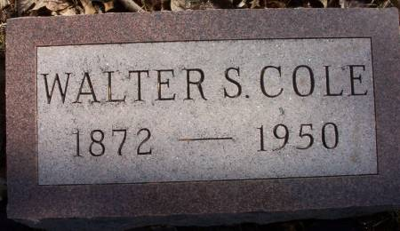 COLE, WALTER SCOTT - Plymouth County, Iowa | WALTER SCOTT COLE