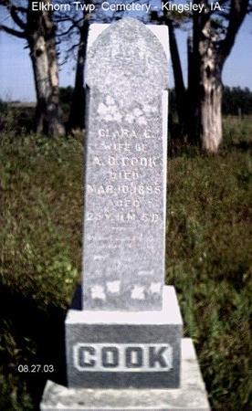 COOK, CLARA - Plymouth County, Iowa | CLARA COOK