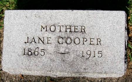 COOPER, JANE - Plymouth County, Iowa | JANE COOPER