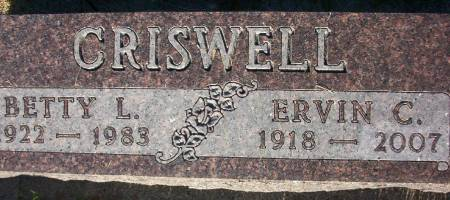CRISWELL, BETTY LOU - Plymouth County, Iowa | BETTY LOU CRISWELL