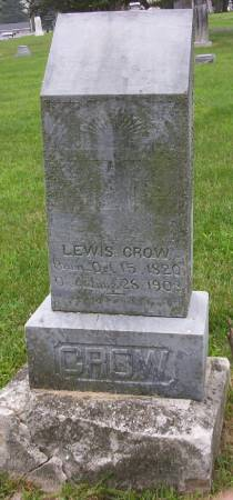CROW, LEWIS - Plymouth County, Iowa | LEWIS CROW