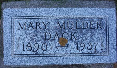 MULDER DACK, MARY - Plymouth County, Iowa | MARY MULDER DACK