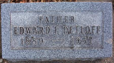 DETLOFF, EDWARD F. - Plymouth County, Iowa | EDWARD F. DETLOFF
