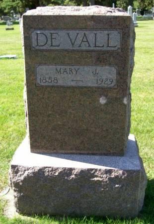 DE VALL, MARY J. - Plymouth County, Iowa | MARY J. DE VALL