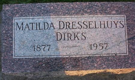 DIRKS, MATILDA - Plymouth County, Iowa | MATILDA DIRKS