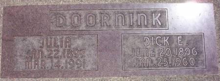 DOORNINK, JULIA - Plymouth County, Iowa | JULIA DOORNINK