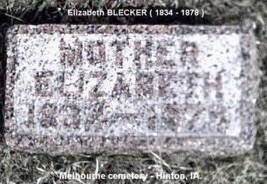 BLECKER, ELIZABETH - Plymouth County, Iowa | ELIZABETH BLECKER