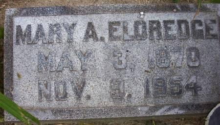 ELDREDGE, MARY A. - Plymouth County, Iowa   MARY A. ELDREDGE