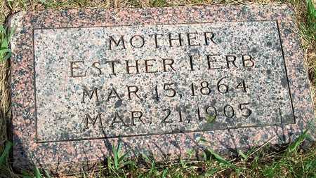 ERB, ESTHER I. - Plymouth County, Iowa   ESTHER I. ERB