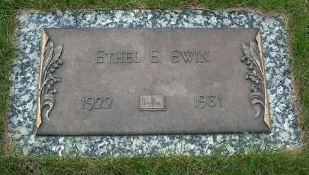 EWIN, ETHEL E. - Plymouth County, Iowa | ETHEL E. EWIN