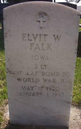 FALK, ELVIT W. - Plymouth County, Iowa   ELVIT W. FALK