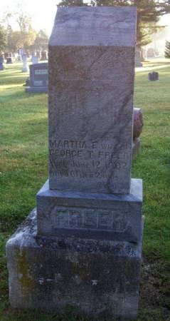 FREER, MARTHA E. - Plymouth County, Iowa   MARTHA E. FREER