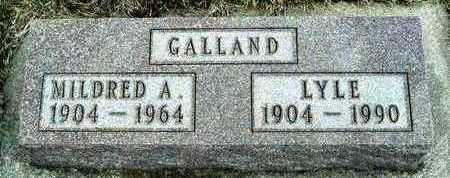 GALLAND, MILDRED ALICE - Plymouth County, Iowa | MILDRED ALICE GALLAND