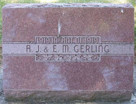 GERLING, INFANT OF A.J. & E.M. - Plymouth County, Iowa   INFANT OF A.J. & E.M. GERLING
