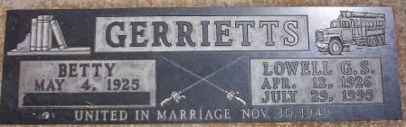 GERRIETTS, LOWELL GEORGE S. - Plymouth County, Iowa | LOWELL GEORGE S. GERRIETTS