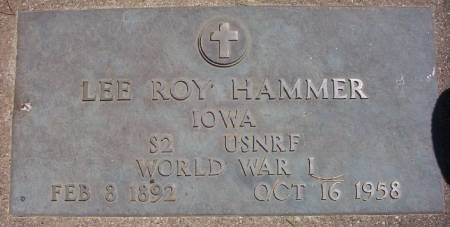HAMMER, LEE ROY - Plymouth County, Iowa | LEE ROY HAMMER