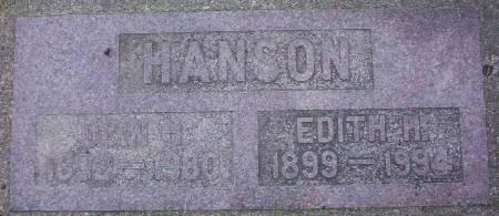 HANSON, ODIN H. - Plymouth County, Iowa | ODIN H. HANSON