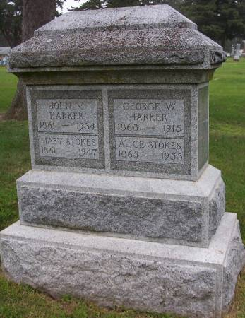 STOKES HARKER, ALICE - Plymouth County, Iowa | ALICE STOKES HARKER