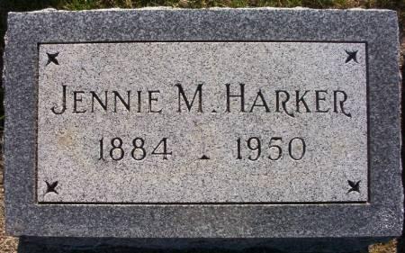HARKER, JENNIE M. - Plymouth County, Iowa   JENNIE M. HARKER