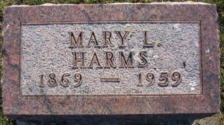 HARMS, MARY L. - Plymouth County, Iowa | MARY L. HARMS