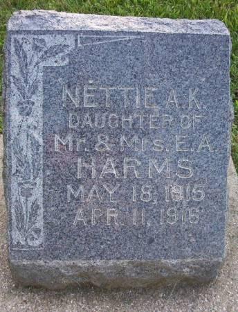 HARMS, NETTIE ANNA K. - Plymouth County, Iowa | NETTIE ANNA K. HARMS