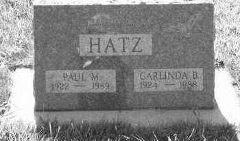 HATZ, PAUL M. - Plymouth County, Iowa | PAUL M. HATZ