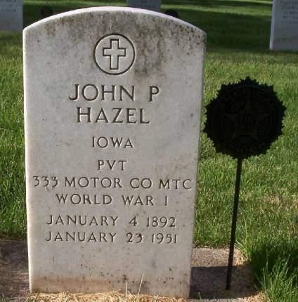 HAZEL, JOHN PETER - Plymouth County, Iowa | JOHN PETER HAZEL