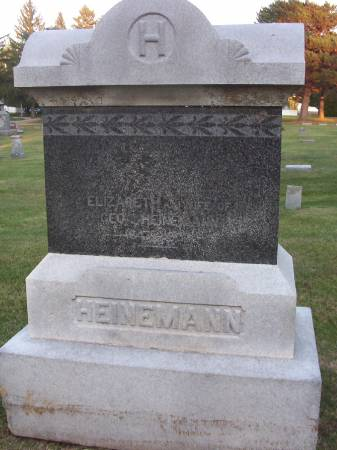 HEINEMANN, ELIZABETH J. (MRS. GEORGE) - Plymouth County, Iowa | ELIZABETH J. (MRS. GEORGE) HEINEMANN
