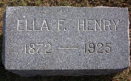 HENRY, ELLA F. - Plymouth County, Iowa | ELLA F. HENRY