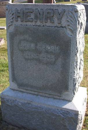 HENRY, JOHN - Plymouth County, Iowa | JOHN HENRY