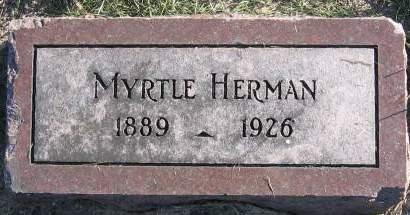 HERMAN, ANNIE MYRTLE - Plymouth County, Iowa   ANNIE MYRTLE HERMAN