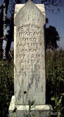 HIGDAY, EDWARD F. - Plymouth County, Iowa | EDWARD F. HIGDAY